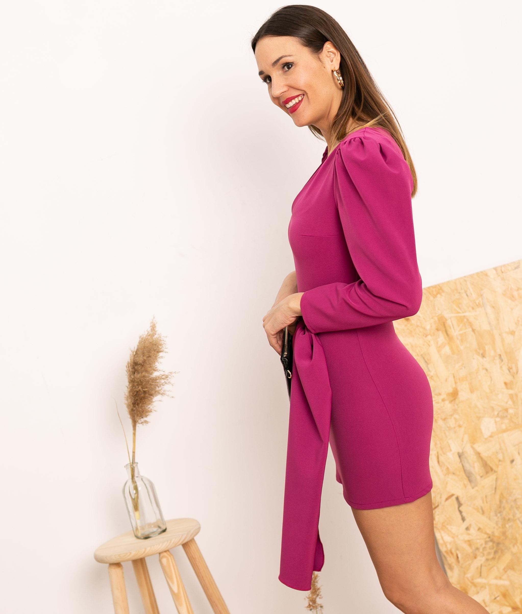 Vestido Cortes - Bougainvillier