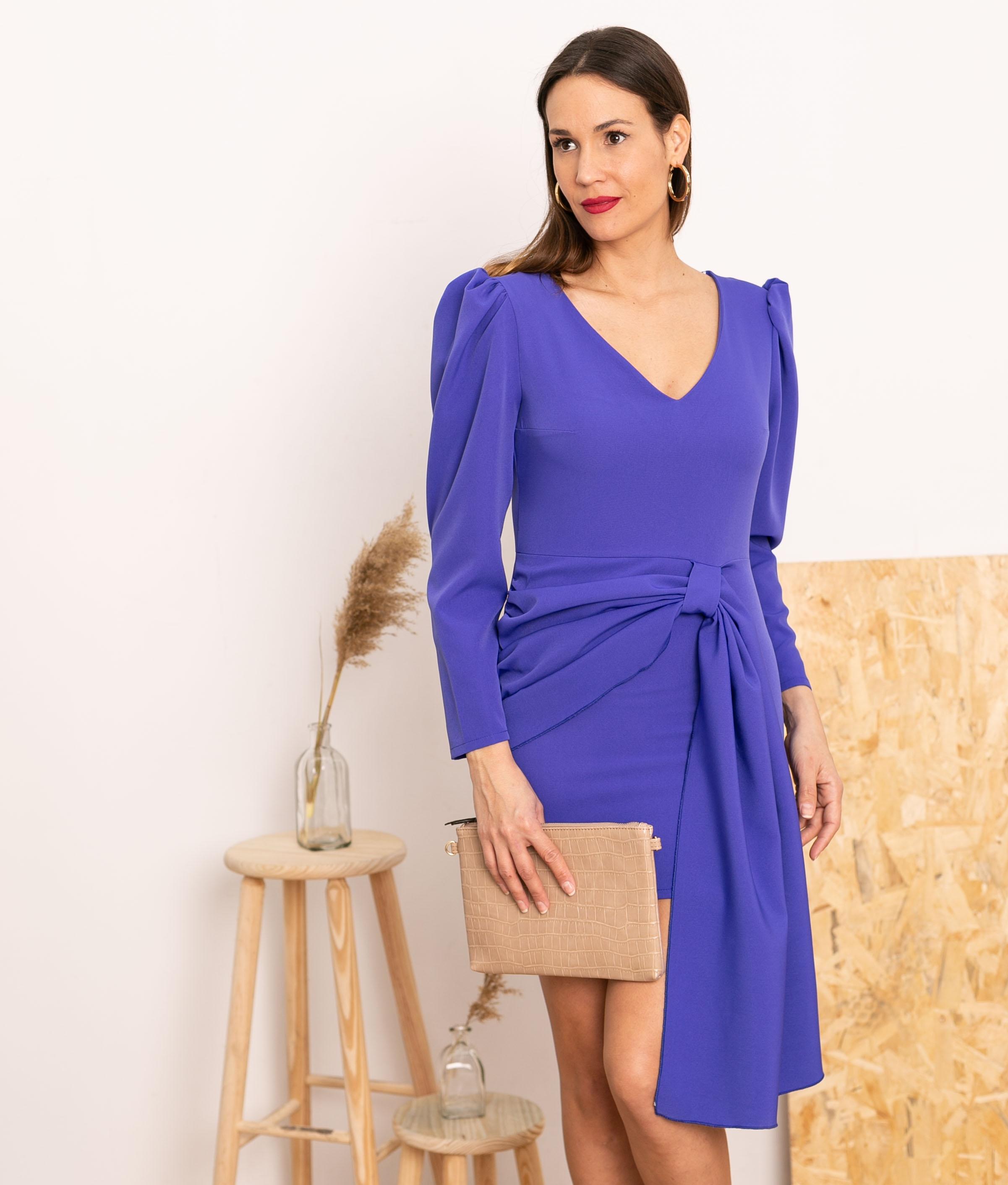 Vestido Cortes - Violet