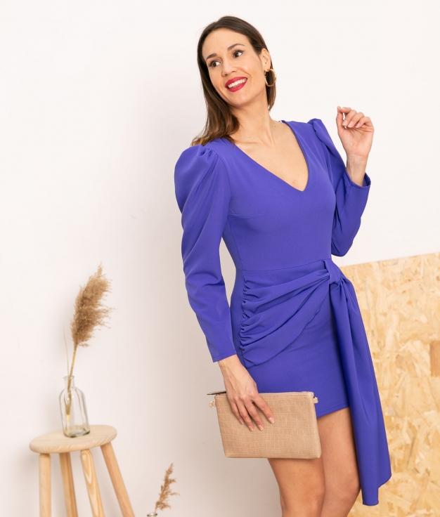 Vestido Cortes - Roxo