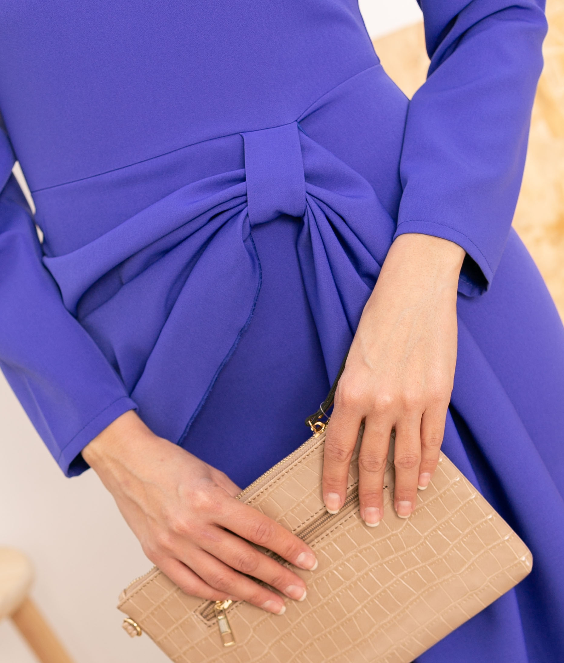 Vestido Cortes - Purple