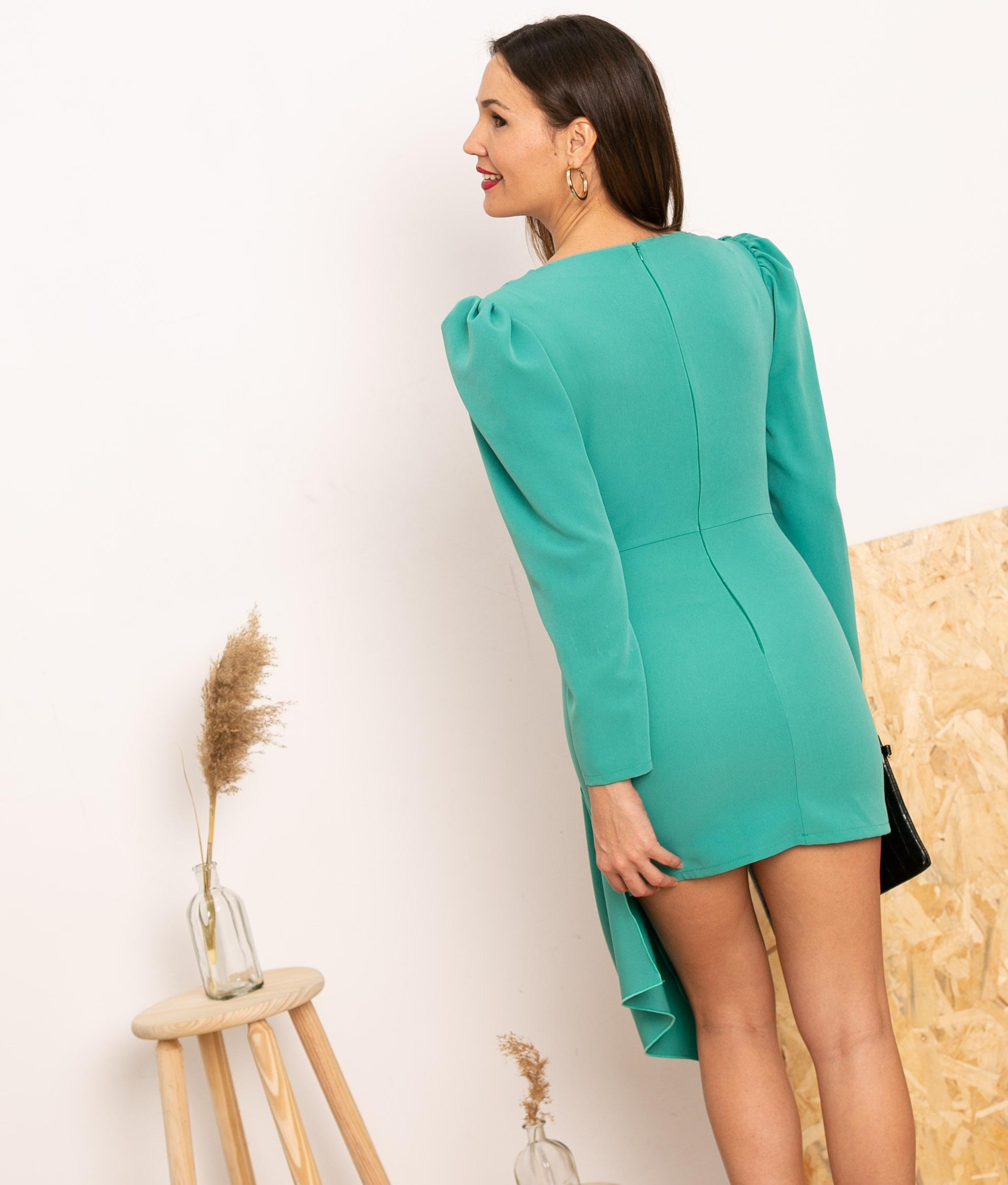 Vestido Cortes -Turchese
