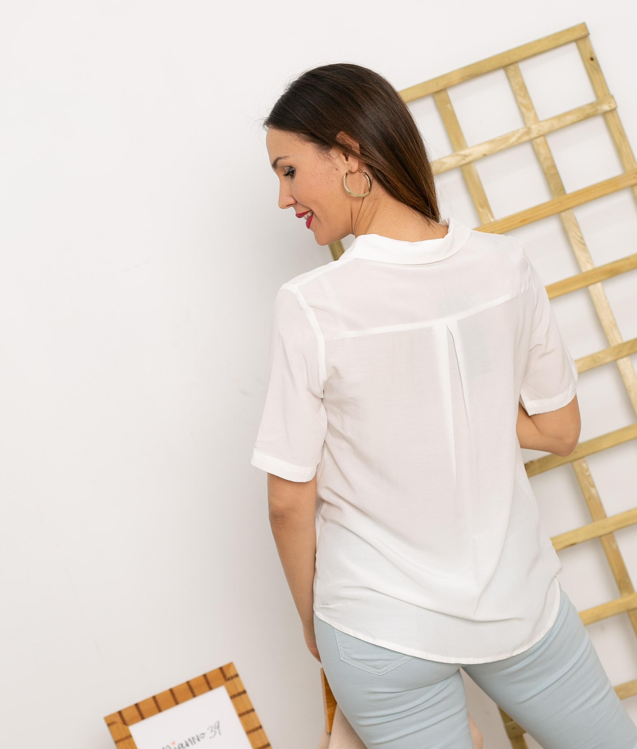 Blusa Tiloa - Blanc