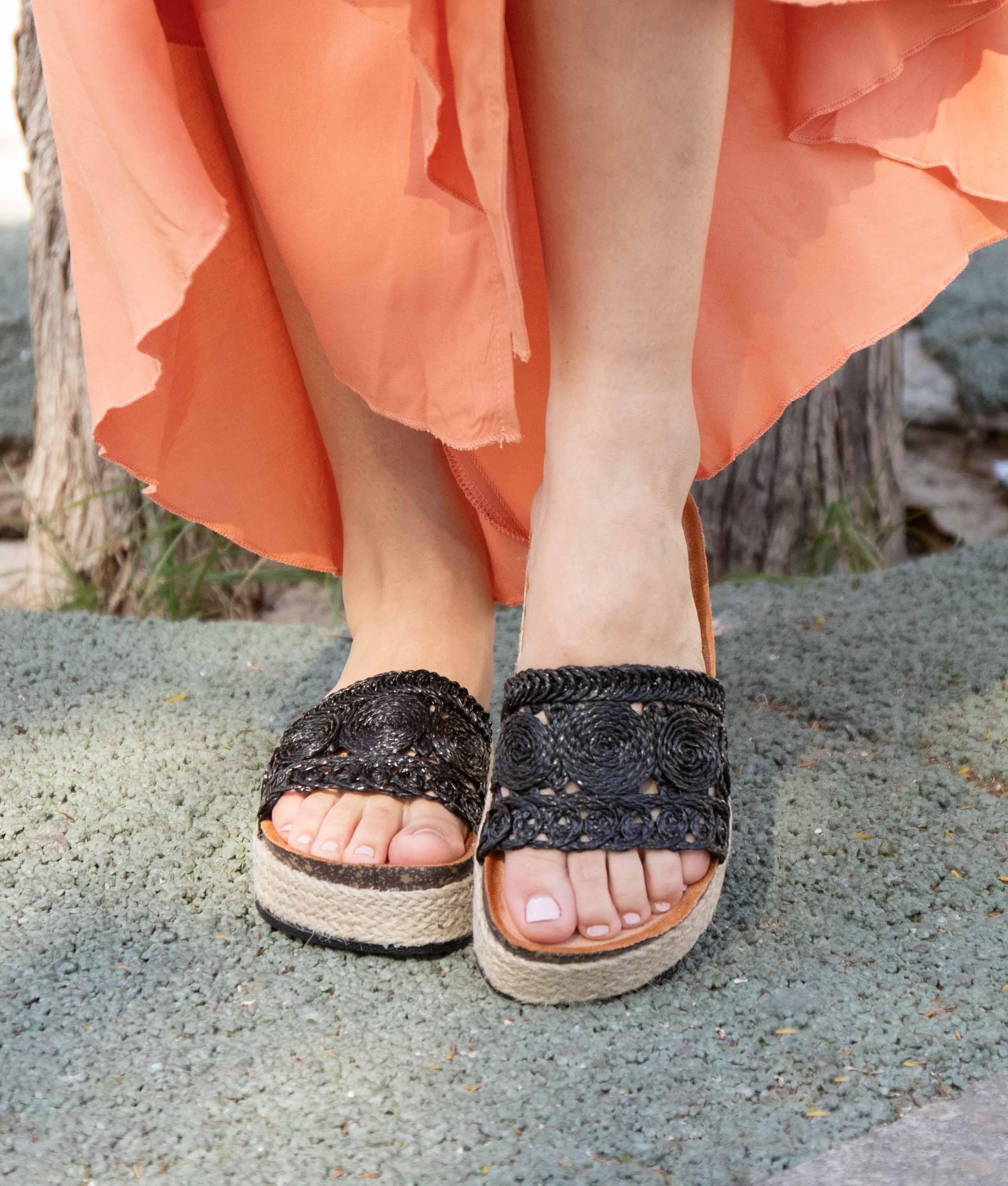Flat Sandal Moti - Black