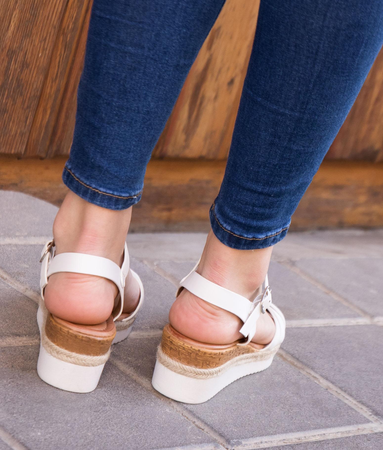 Wedge Heel Luti- White