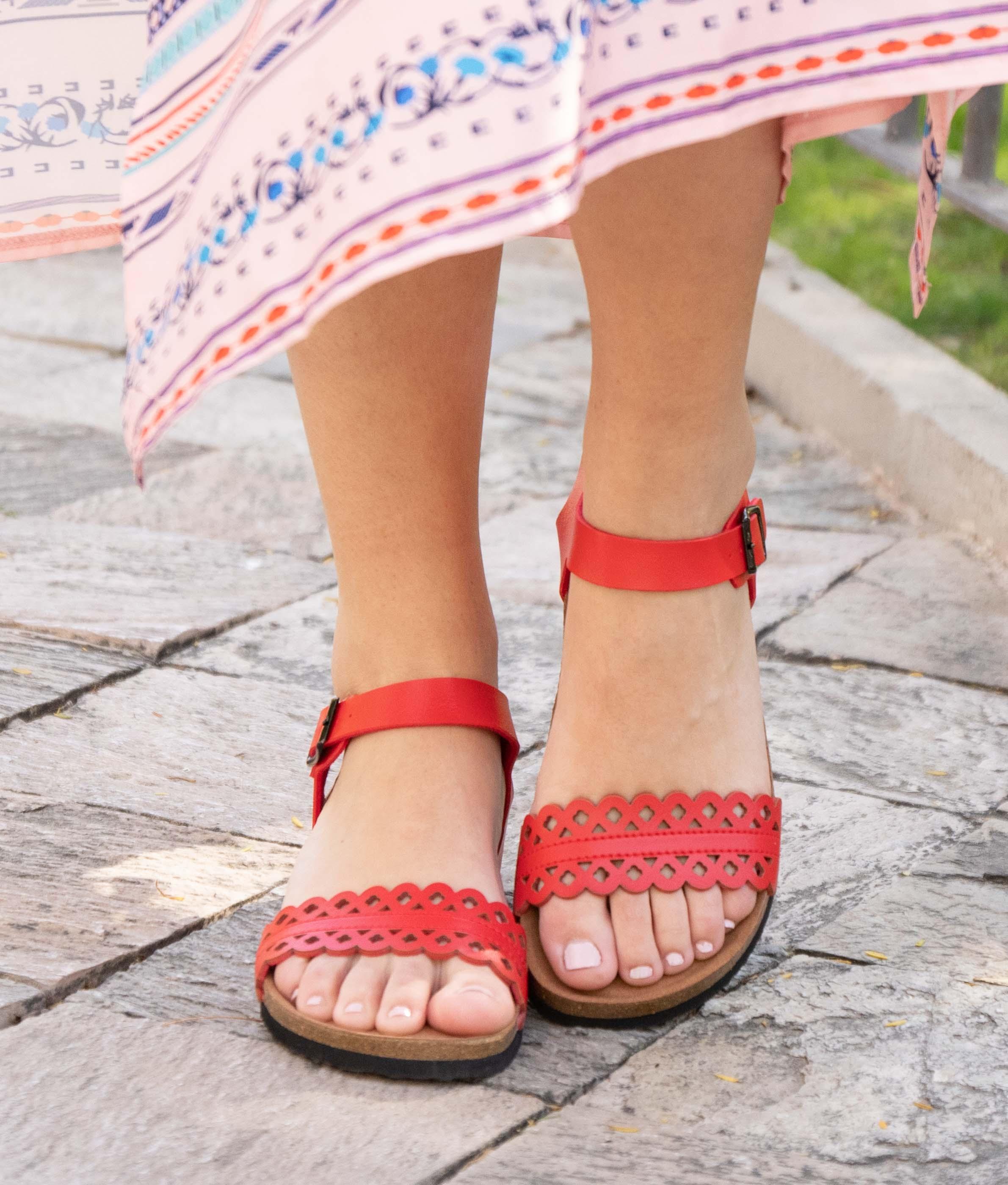 Wedge Heel Suber - Red