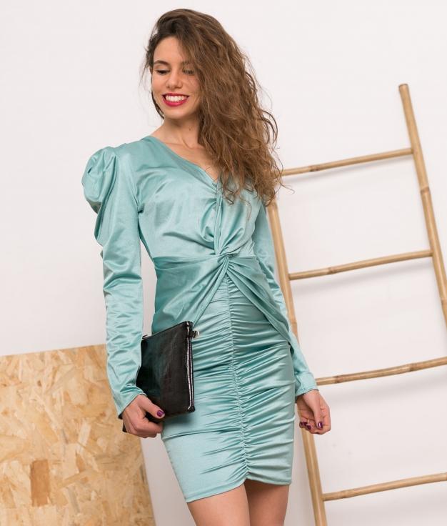 Vestido Kaniu - Acquamarina