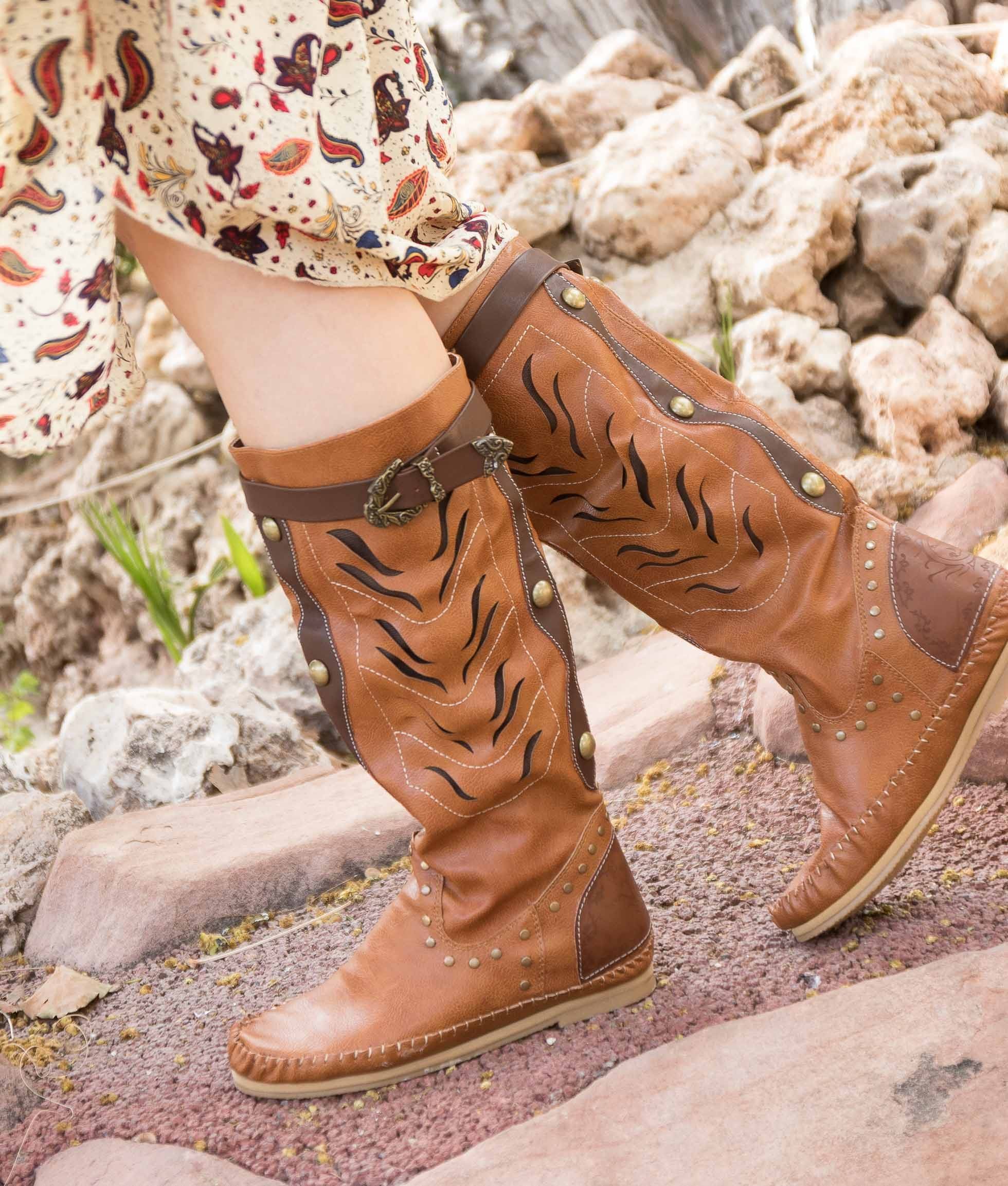 Knee-length Boot Surina - Camel