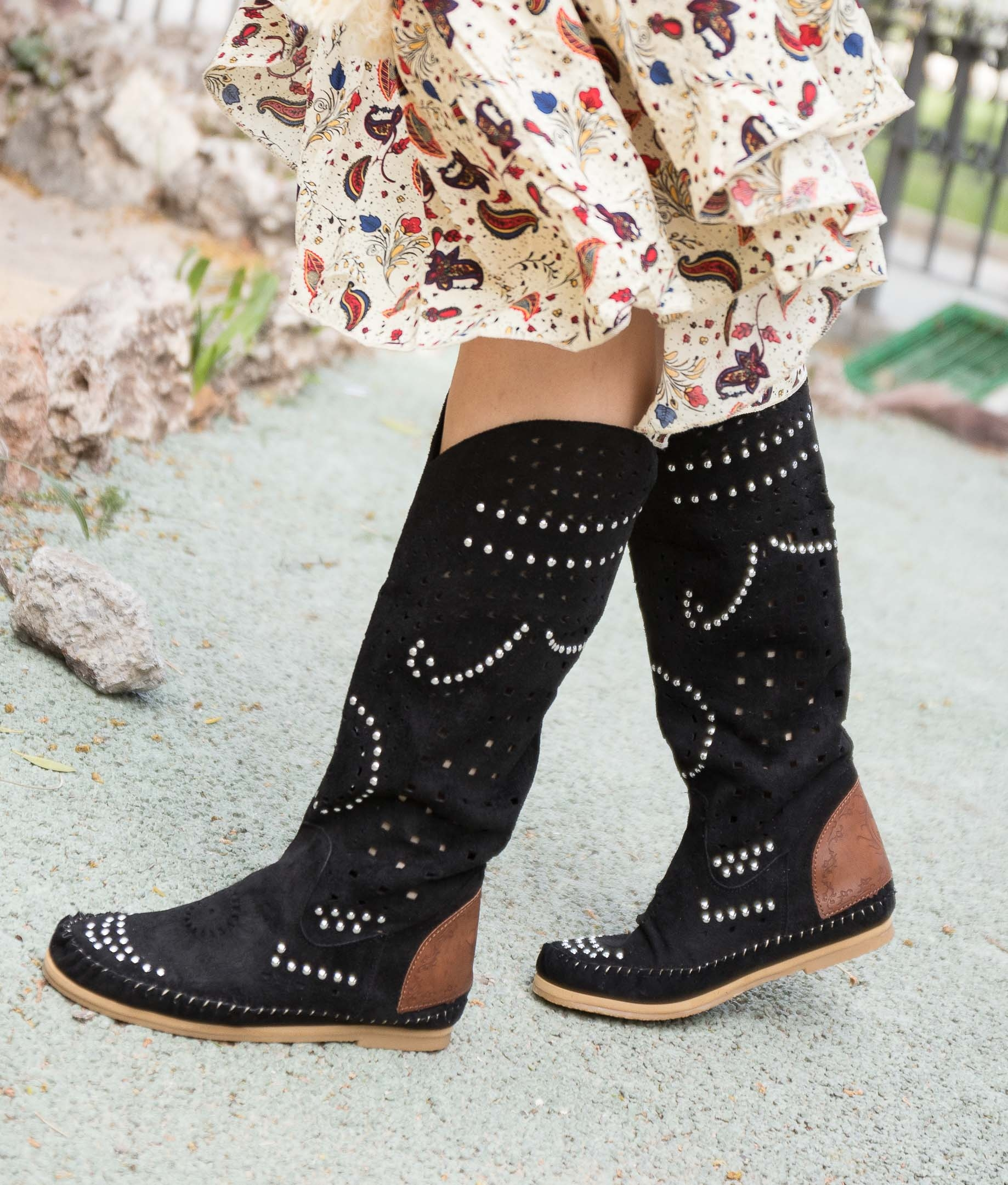Indiani Boot Yelai - Black