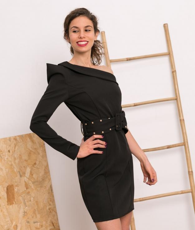Vestido Julver - Preto