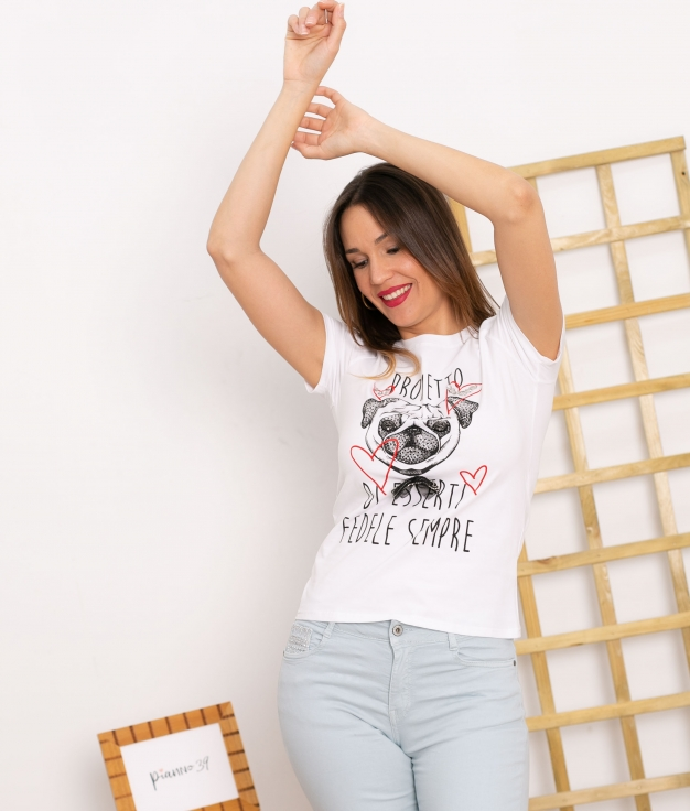 Camiseta Luchia - Branco