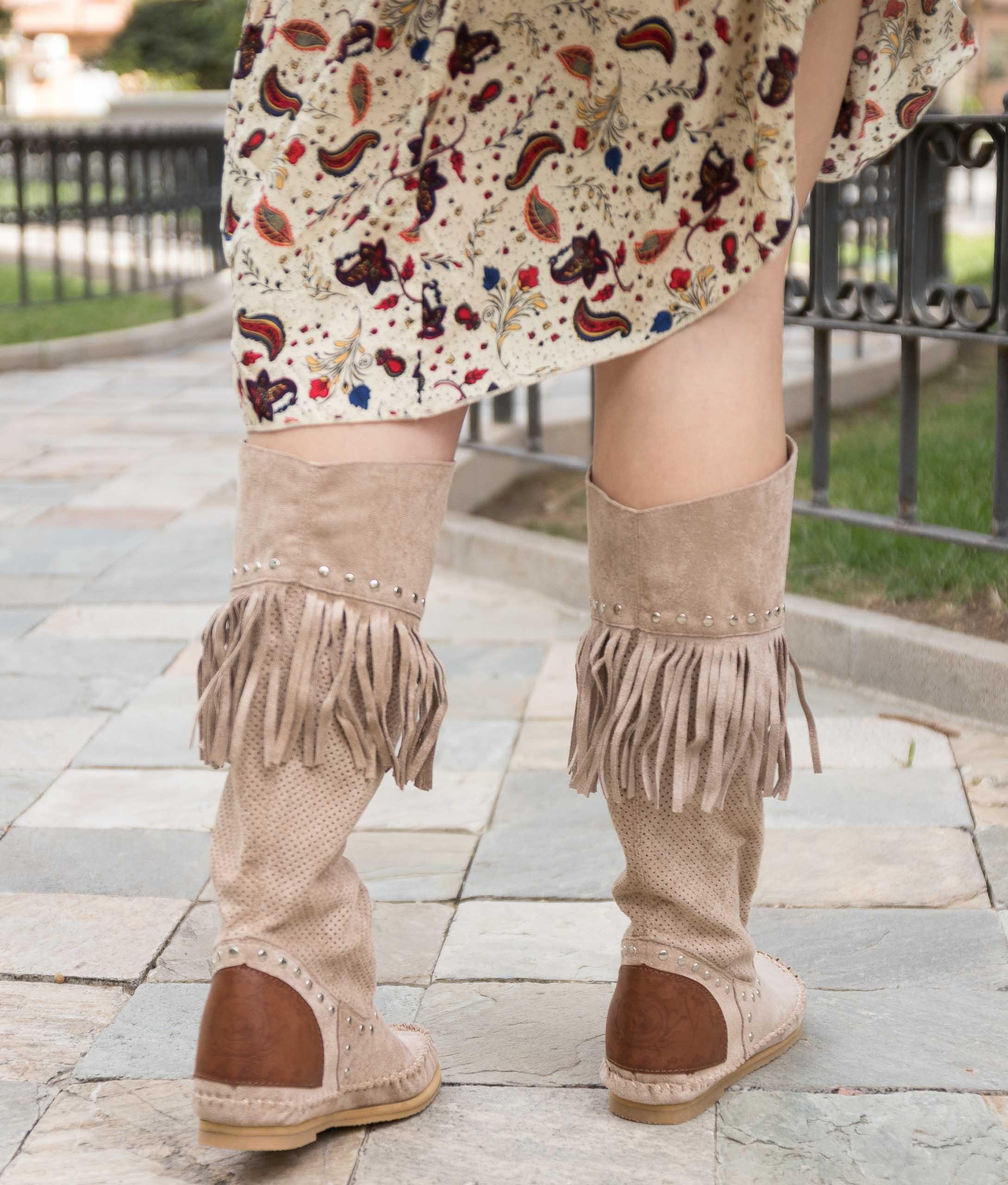 Stivali Indiani Sarale - Beige