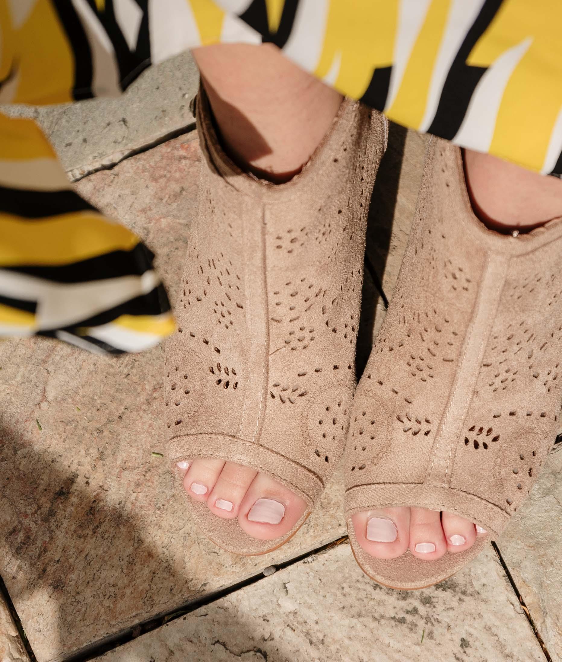High Sandal Gazol - Beige