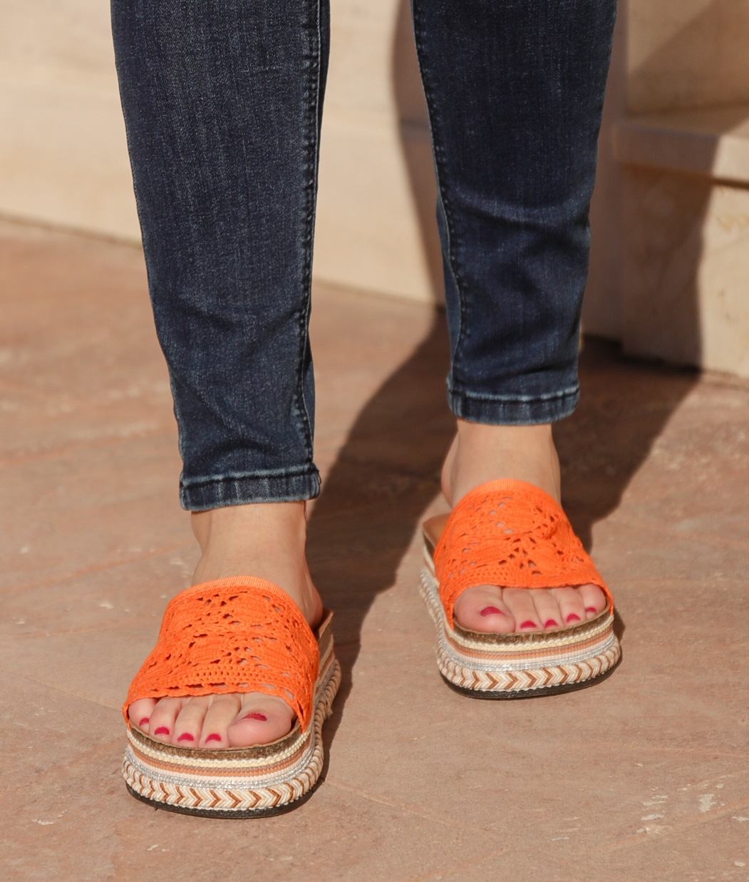 Sandalia Cialco - Naranja