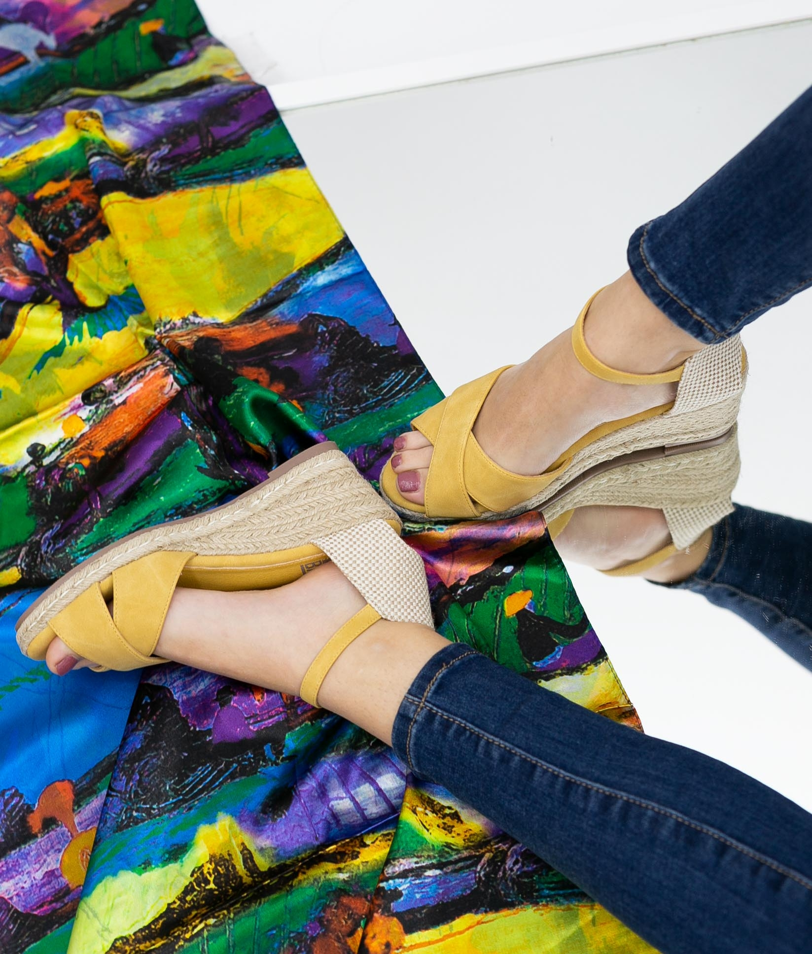Wedge Heel Lodia Xti - Yellow