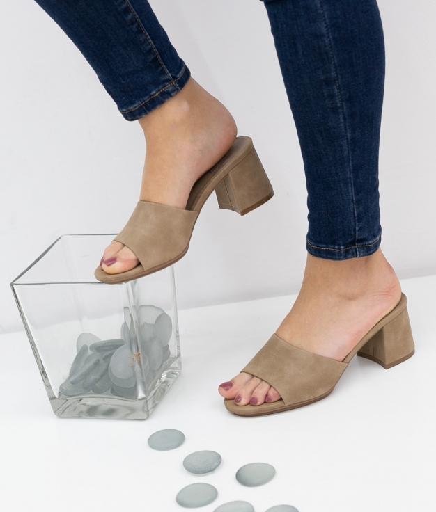 Sandália de Salto Dareka Xti - Taupe
