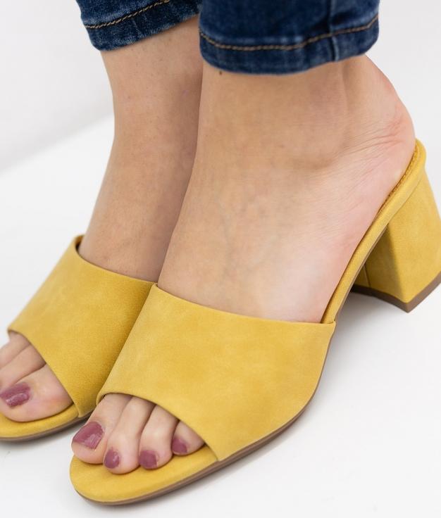 Sandália de Salto Dareka Xti - Amarelo