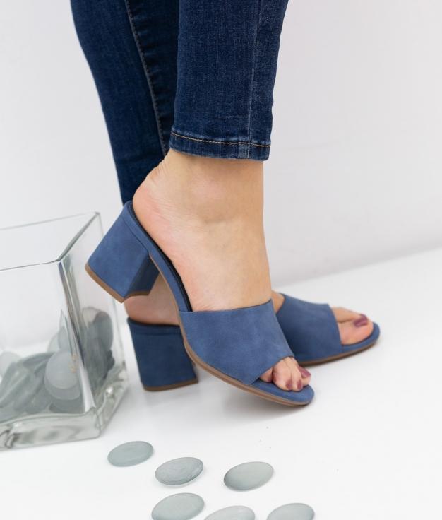 Sandália de Salto Dareka Xti - Jeans