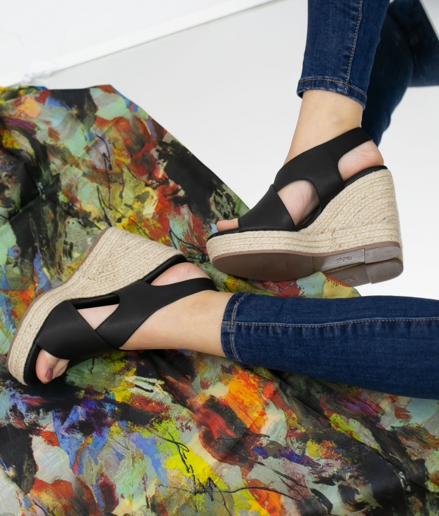 Wedge Heel Polan Xti - Black