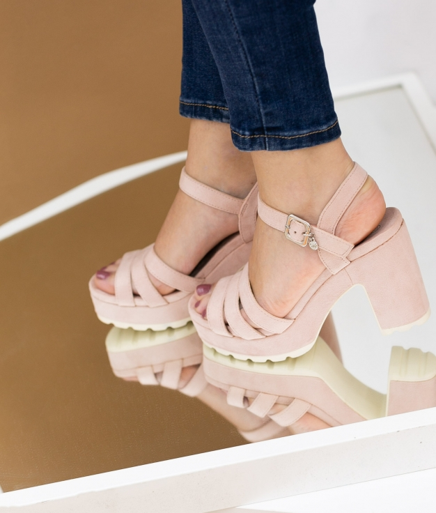 Sandália de Salto Uwaju Xti - Rosa