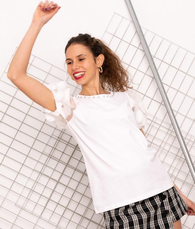T-shirt Caen - Blanc