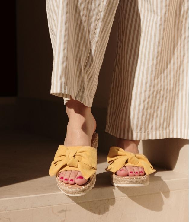 Sandalia Plat Bimbu -Moutarde
