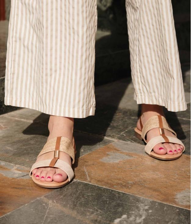 Flat Sandal Jumy - Beige