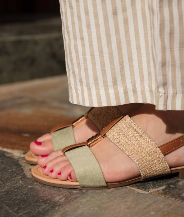 Flat Sandal Jumy - Green
