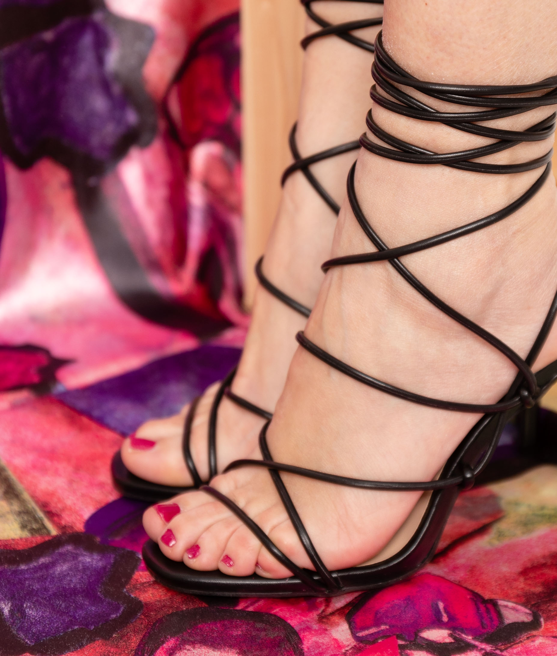 High Sandal Buty - Silver