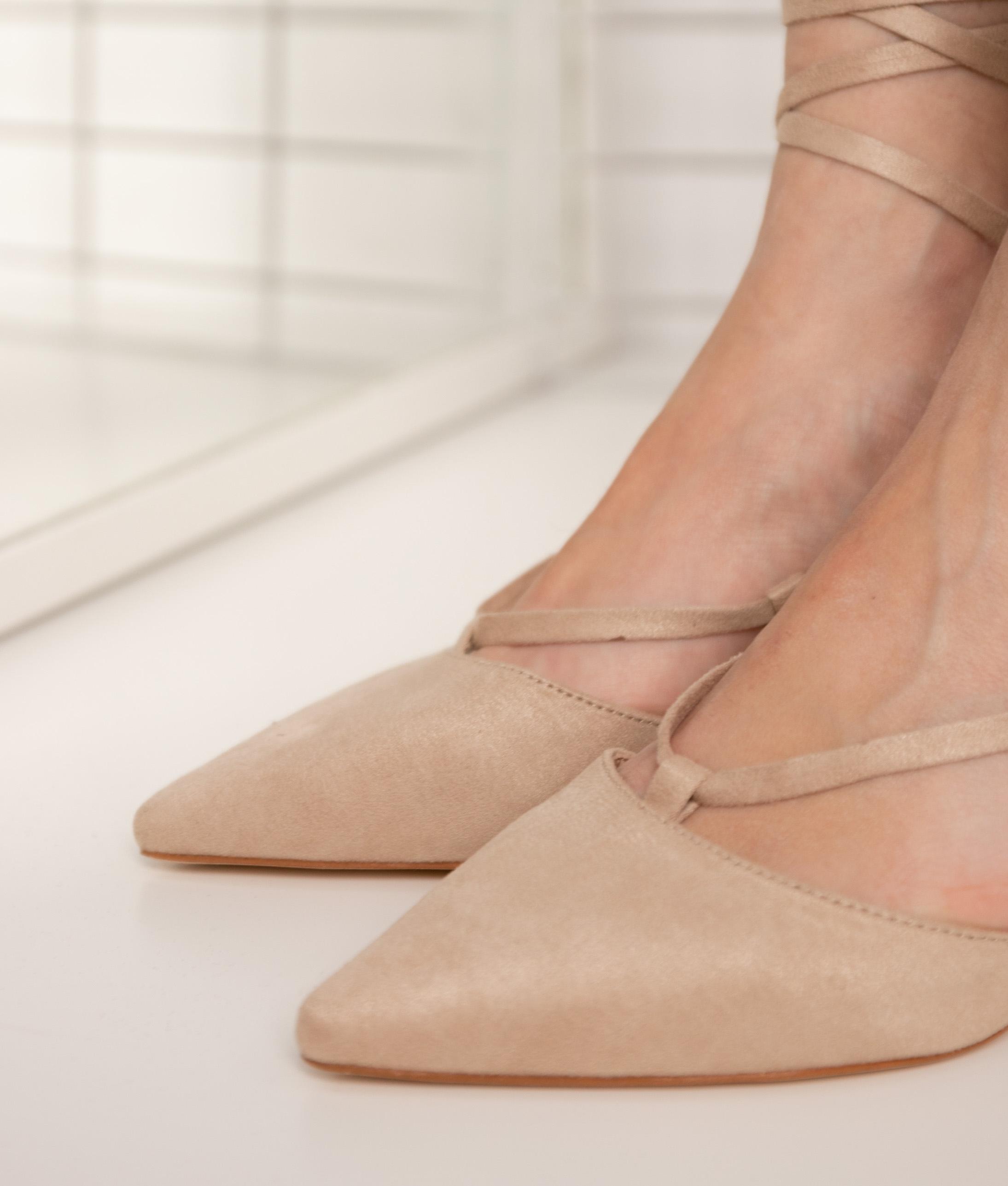 Sandalia de Tacón Golas - Beige
