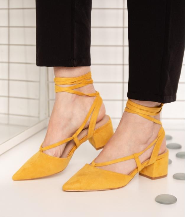 Sandalia de Tacón Golas - Mustard
