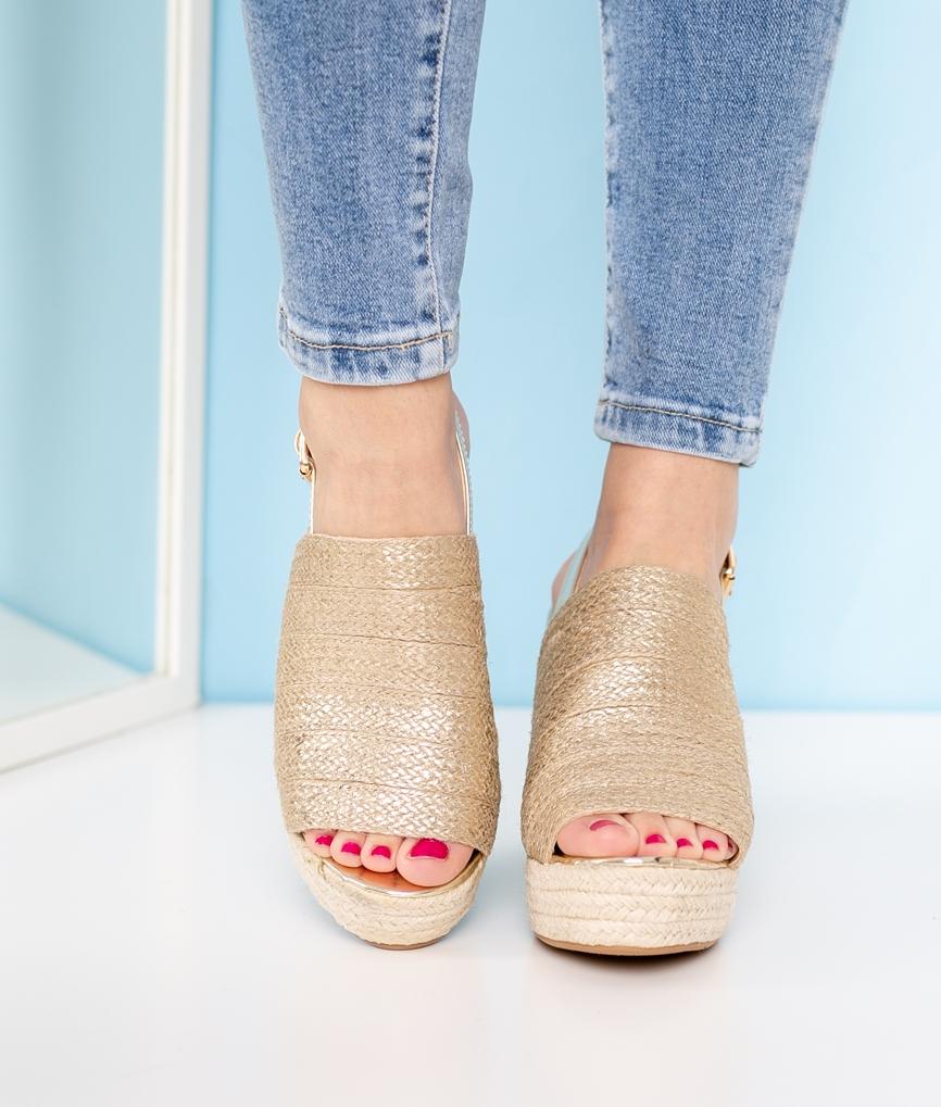 Wedge Heel Fabe - Golden