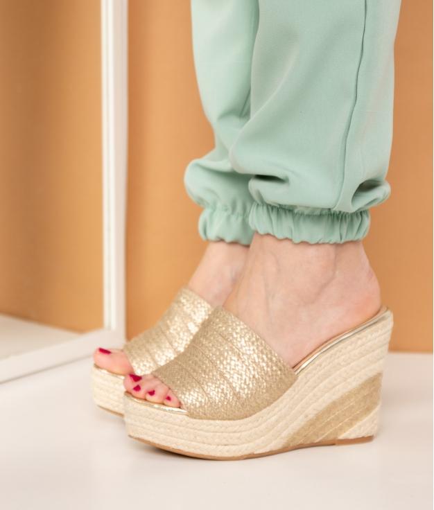 Wedge Heel Zaku - Golden