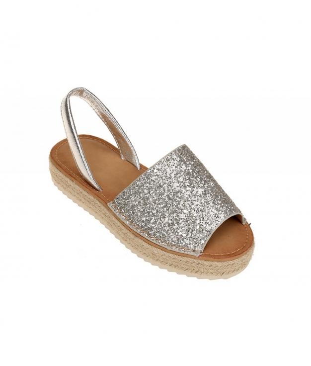 Menorquina Glitter- Plata