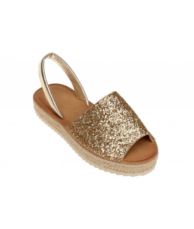 Menorquina Glitter- Oro