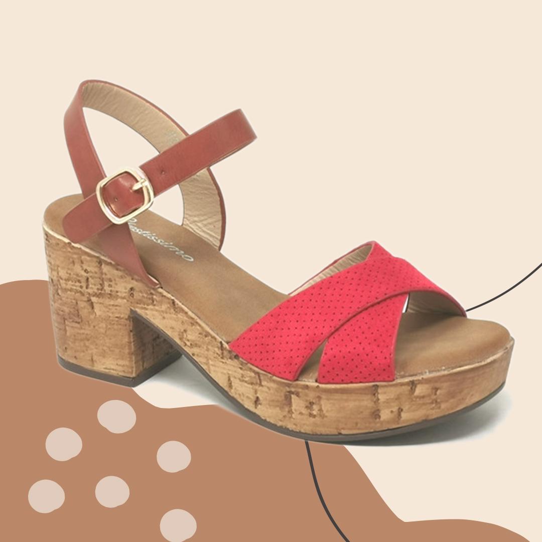 Sandália de Salto Beus - Rosa