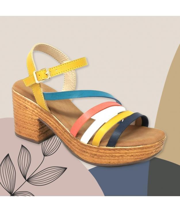 Sandalia de Tacón Dakini - Yellow