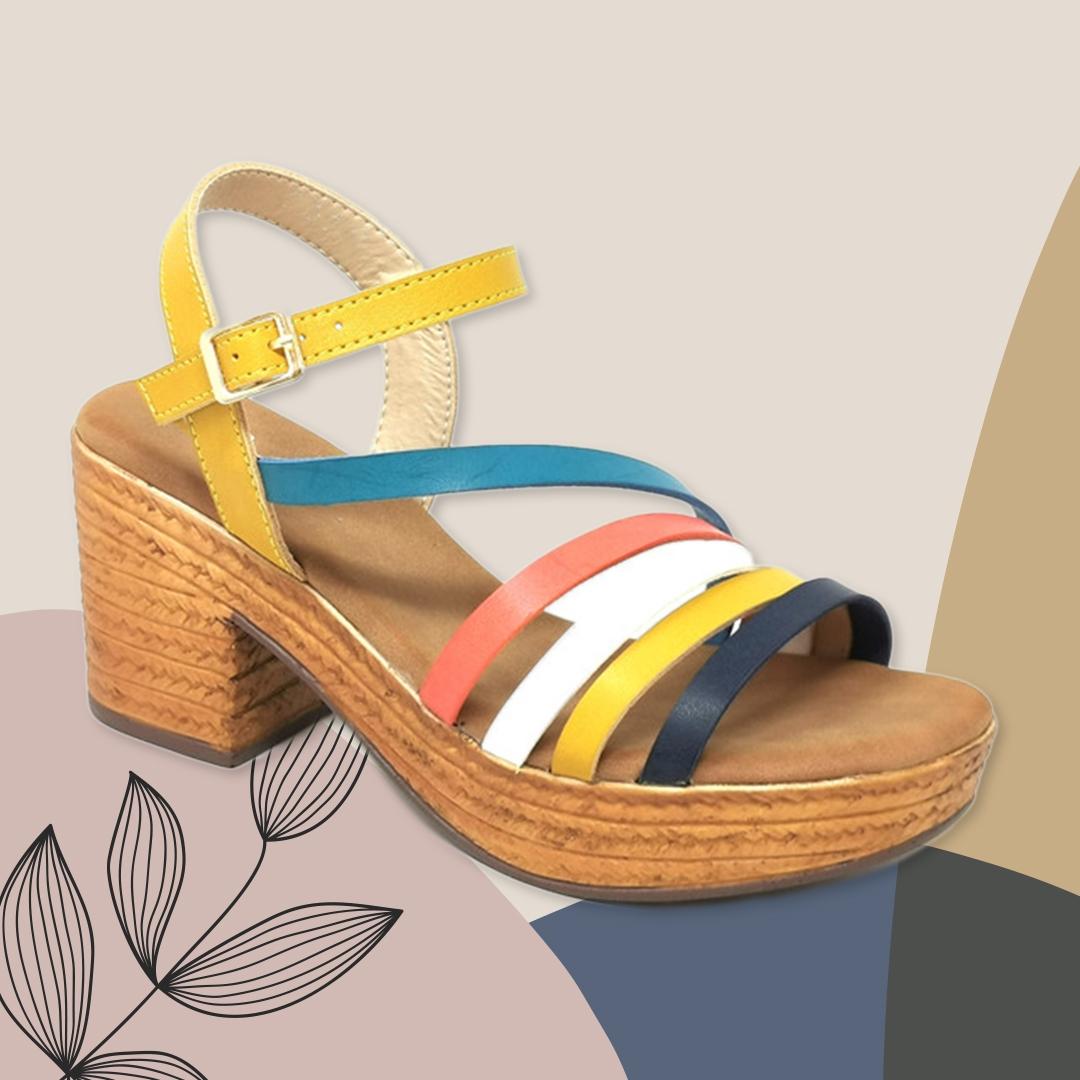 Sandalia de Tacón Dakini - Amarelo