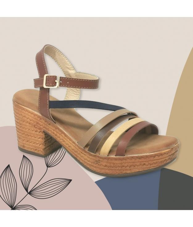 Sandalia de Tacón Dakini - Brown