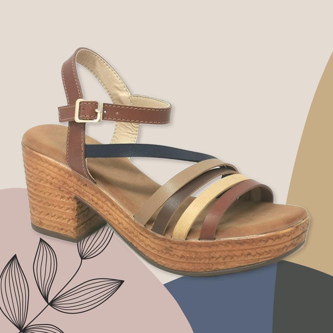 Sandalia de Tacón Dakini - Marrón