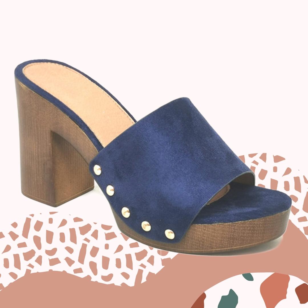 Sandalia de Tacón Edvin - Navy Blue
