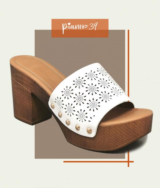 Sandalia de Tacón Laisa - White