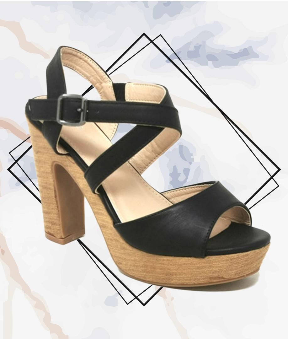Sandalia de Tacón Aren - Black