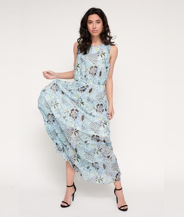 Vestido Bengar - Azul