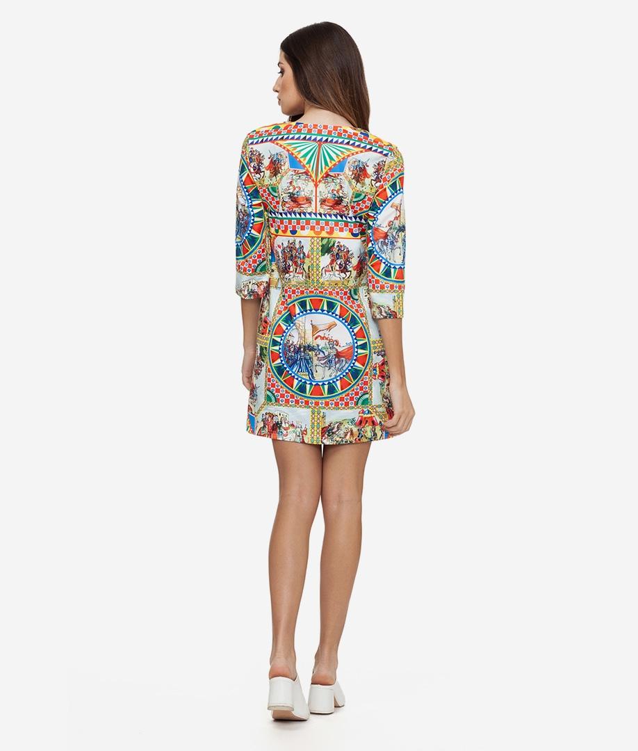 Vestido Zabuza - Multicolorido