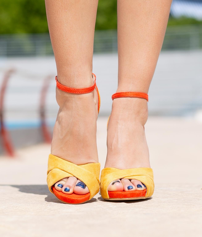 Sandalia de Tacón Marlon - Naranja