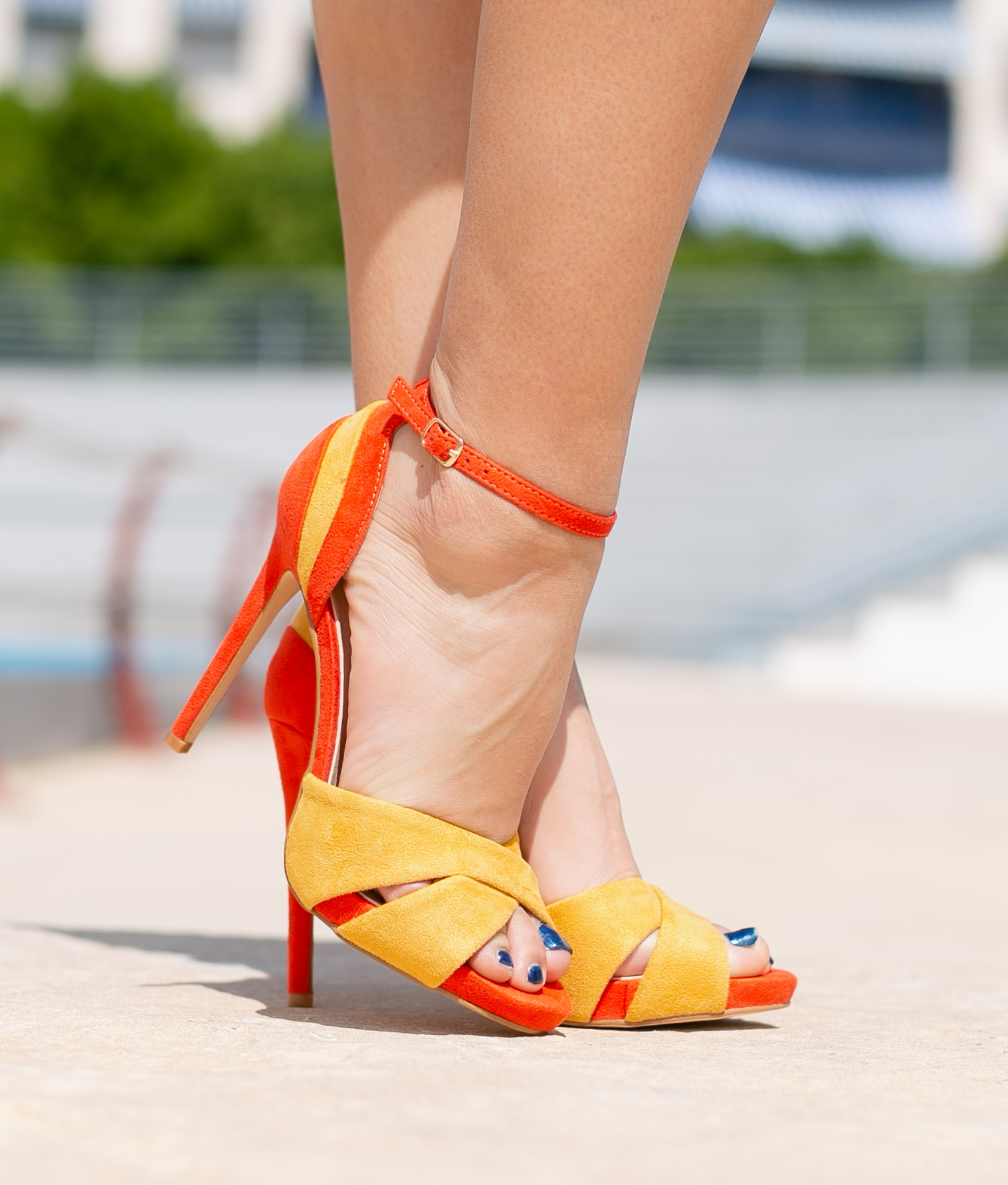 Sandalo Alta Marlon - Arancione