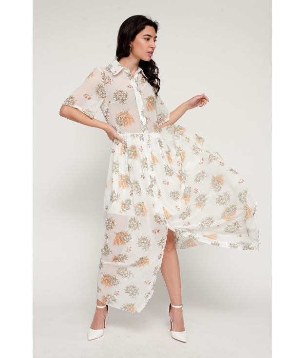 Vestido Chiyo - Blanc