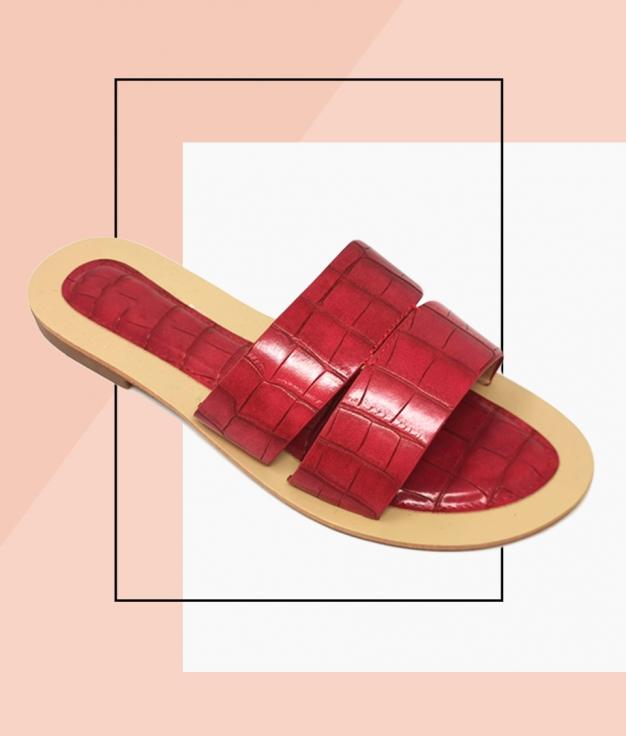 Flat Sandal Rueda - Red