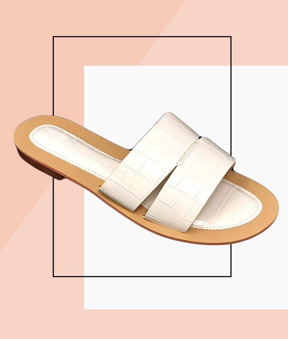 Flat Sandal Rueda - White
