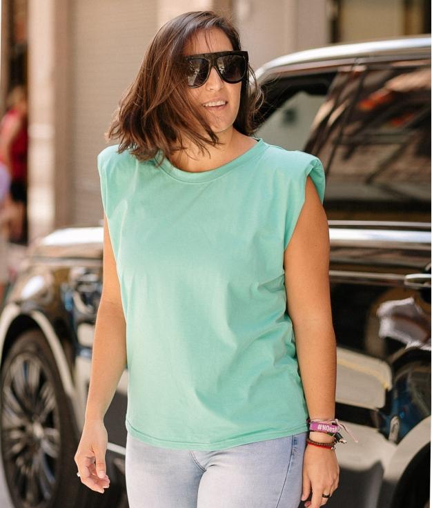 T-Shirt California - Turquoise